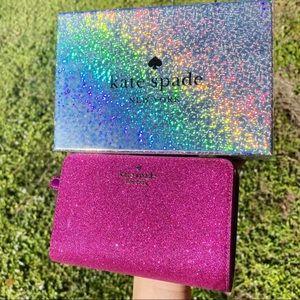 Kate Spade ♠️ Glitter ✨ Wallet New in Box